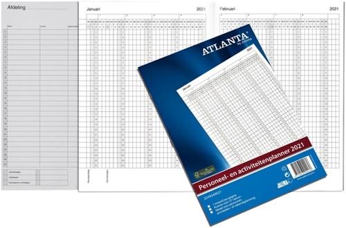 Jaarplanner 2021 Atlanta personeel- en activiteitenplanner