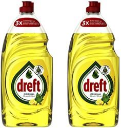 Afwasmiddel Dreft citroen 2x890ml