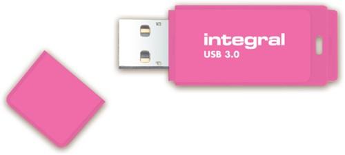USB-stick 3.0 Integral 128GB neon roze-2