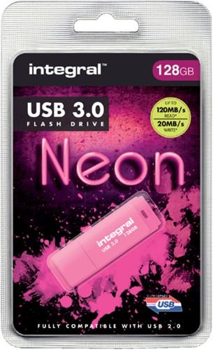 USB-stick 3.0 Integral 128GB neon roze