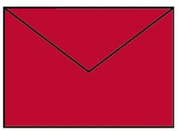 Envelop C6 rood