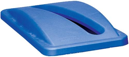 Afvalbakdeksel Slim Jim blauw voor papier