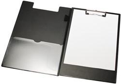 Klembordmap LPC A4/Folio met 100mm klem + penlus zwart