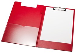 Klembordmap LPC A4/Folio met 100mm klem +penlus rood