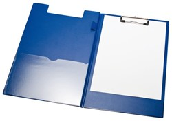 Klemmap LPC A4/Folio met 100mm klem + penlus blauw