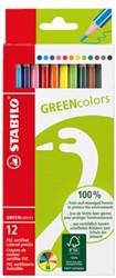 Kleurpotloden Stabilo Greencolors 12stuks assorti