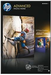 Inkjetpapier HP Q8008A 10x15cm photo glossy 250gr 60vel