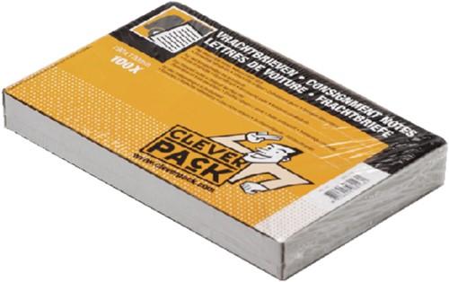 Vrachtbrief CleverPack Blanco 3voud 19x12cm 100stuks