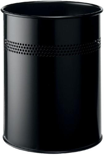 Papierbak Durable 3300-01 15liter 30mm perforatie zwart