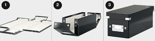 Cd box Leitz Click & Store 127x124x320mm zwart-3