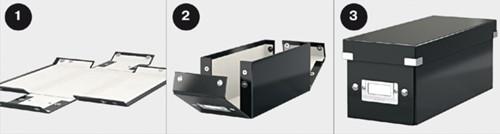 Cd box Leitz Click & Store 127x124x320mm zwart