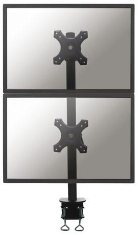 """Monitorarm Newstar D700DV 2x10-""""27""""  vertikaal klem zwart"""