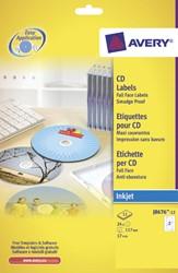 Etiket Avery J8676-12 CD mat wit 24stuks