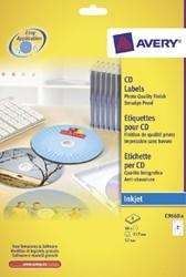Etiket Avery C9660-8 CD wit hoog glans 16stuks