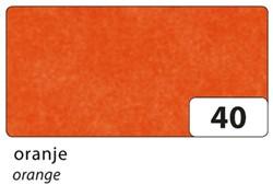 Zijdevloeipapier Folia 50x70cm 20g nr40 oranje set à 5vel