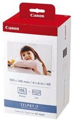 Inkjetpapier Canon KP-108IN 10cmX15cm foto pak