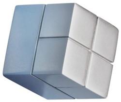 Glasbordmagneet Sigel Artverum 20x20x20mm zilver 1stuks