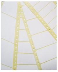 Etiket Avery Zweckform T1516 89x23.4mm 1-baans wit 6000stuks