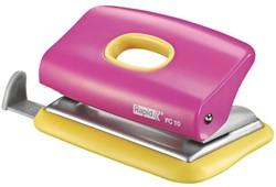 Perforator Rapid FC10 Funky 2-gaats 10vel roze/geel