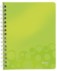 Notitieboek Leitz WOW A5 spiraal PP lijn groen