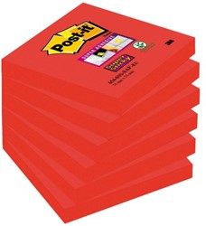 Memoblok 3M Post-it 654-SSSF Super Sticky 76x76mm Saffraan