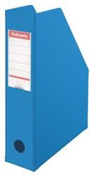 Tijdschriftcassette Esselte Vivida opvouwbaar blauw