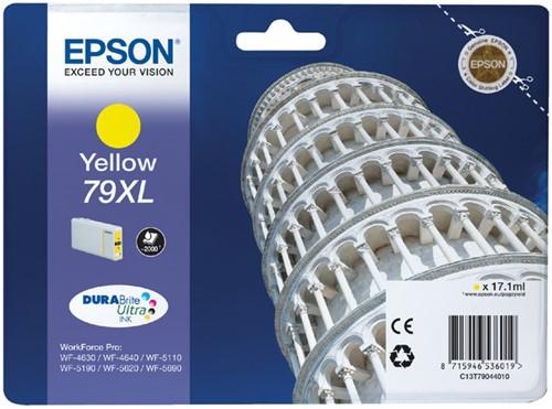 Inktcartridge Epson 79XL T7904 geel HC