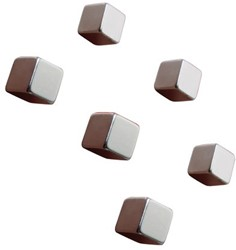 Glasbordmagneet Sigel Artverum 10x10x10mm nikkel 6stuks