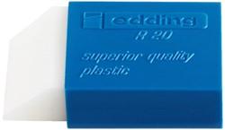 Gum edding R20 kunststof 45x24x10mm wit met blauwe houder