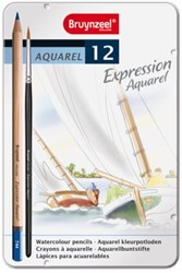 Kleurpotloden Bruynzeel Expression Aquarel blik 12stuks ass