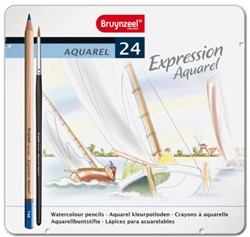 Kleurpotloden Bruynzeel Aquarel Expression blik 24stuks ass