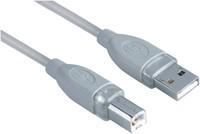 Kabel Hama USB 2.0 A-B 180cm grijs