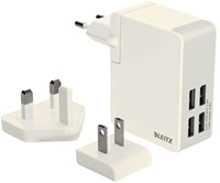 Oplader Leitz Complete Traveler USB 4-plugs wit