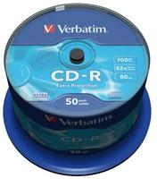 CD-R Verbatim 700MB 80min 52X spindel 50stuks-2