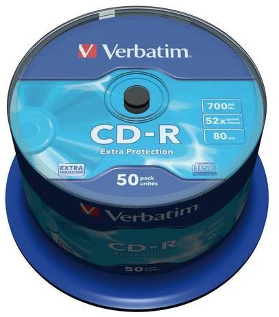 CD-R Verbatim 700MB 80min 52X spindel 50stuks