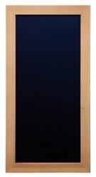 Krijtbord Securit wand 20x40cm teak hout