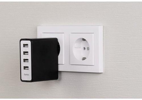 Oplader Hama USB Auto-Detect met 4 poorten-3