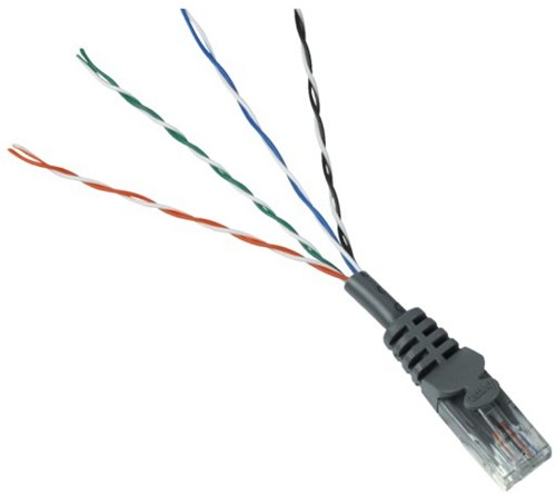 Kabel Hama CAT5e UTP 20m grijs bulkverpakking-2