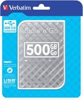 Harddisk Verbatim Store'n'go 500GB USB 3.0 zilver-2