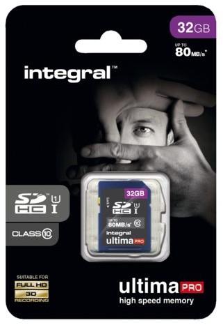 Geheugenkaart Integral SDHC class10 32GB