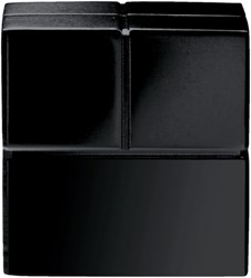 Glasbordmagneet Sigel Artverum 20x20x20mm zwart 2stuks
