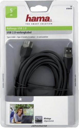 Kabel Hama USB 2.0 Extension 500cm grijs-2