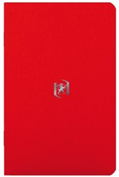 Notitieboek Oxford Pocket Notes 90X140mm tomaten rood lijn