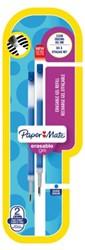 Gelschrijvervulling Paper Mate Inkjoy erasable fijn blauw