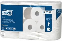 Toiletpapier Tork T4 110317 3laags Premium 42rollen