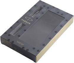 Balpen Parker Jotter bond street black + notitieboek blister