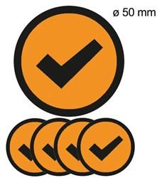Magneet check 5cm oranje