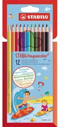Kleurpotloden Stabilo Aquacolor 12 stuks blister assorti