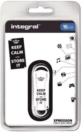 USB-Stick 2.0 Integral FD Xpression 16GB Keep Calm wit-2