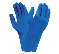 Handschoen huishoud Nova latex M medium blauw